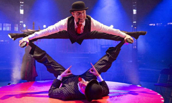 The English Gents: (top) Hamish McCann (top) and Denis Lock in La Soirée